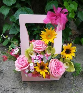 Mevsim Çiçekleri Aranjmanı
