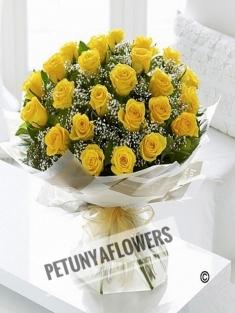 20 Sarı Gül Buketi